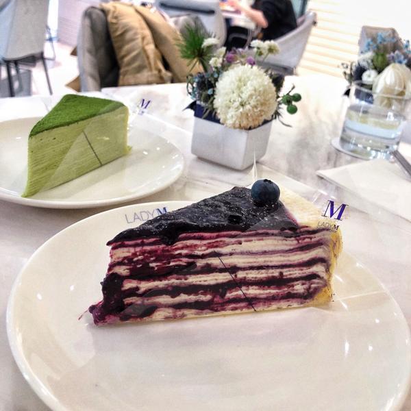 [台北|國父紀念館]LADY M 四月新品推出✨📍Lady m光復旗艦店 🥄藍莓起司千層蛋糕$2