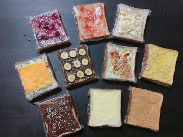 5分鐘就能品嚐 ,嚴選10種口味「厚片吐司」!✨10種厚片吐司系列 作法: ①藍莓果醬 ②奶酥抹醬