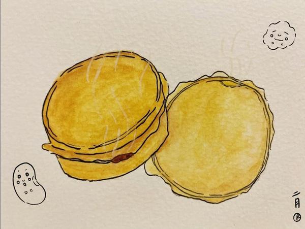 食物的記憶,串起記憶中人們的牽掛與思念 #紅豆餅 #車輪餅 #散文食物的記憶-紅豆&奶油車輪