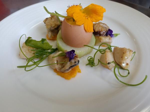【西餐】🍳廚房裡的大小事🍳4/27西餐課:  🍴法式蒸蛋襯奶油燴野菇👍 🍴南瓜濃湯 🍴燒