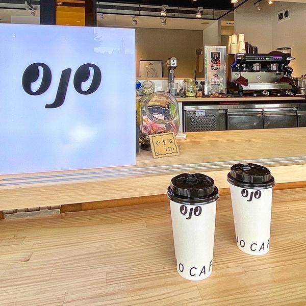 📍台北 •  中正區【OJO coffee】  最近來華山散步一定會發現這家有可愛LOGO的店!在