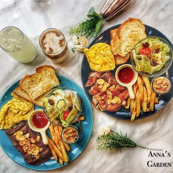 【台南】🎈Anna's garden🎈馬卡龍色建築早午餐👉🏻18巷內早午餐來囉😍成大週邊餐