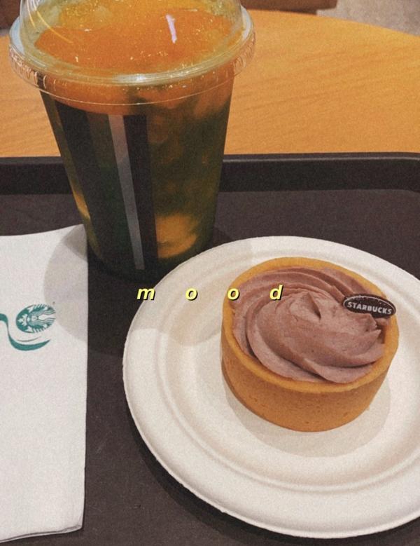 星巴克甜點分享🍮  近期的新品-香芋布蕾塔$100  我覺得滿分5分 我給4.5分🤤🤤🤤🤤
