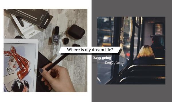 """""""堅持""""是走向完成目標的道路!這是我的故事分享。""""我好想擁有這樣的生活...,但好遙遠""""看著手機螢幕"""