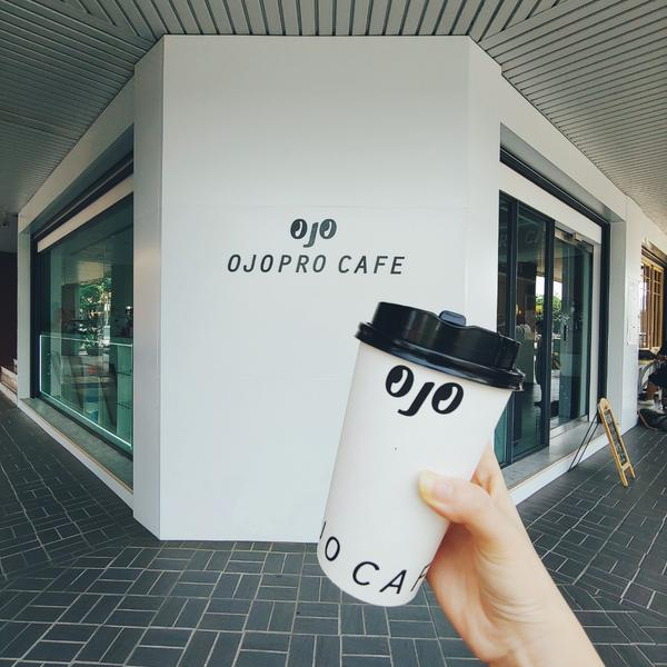 咖啡杯Logo超可愛的 Ojopro Cafe☕華山大草原旁最近新開了一間文青咖啡廳 就藏身在華山文