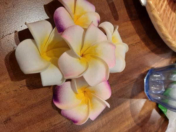 隨手拍食物裝飾的花兒看了心情好