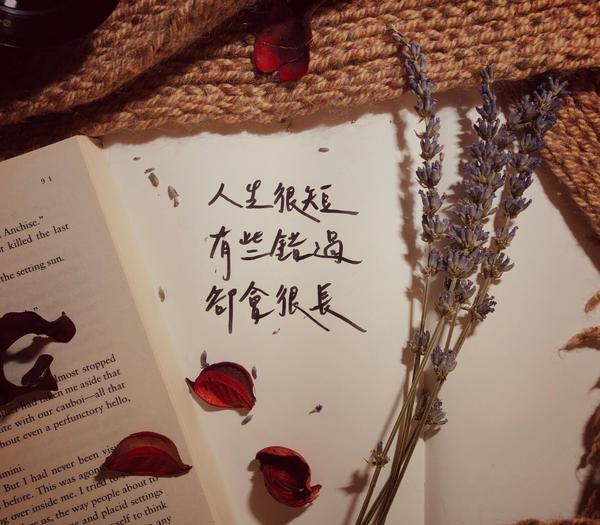 人生很短,有些錯過,卻會很長✍🏻instagram:Only手寫人生太短,短到不足已抓