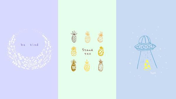 𓈒 ꎺ 手繪桌布包 ② doodle art wallpaper bundle ꎺ 𓈒 ⋮ 含手