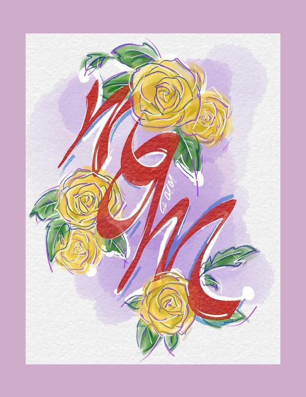 母親節快樂💐Thankyou,mom💜💐母親節快樂🌸媽媽喜歡黃玫瑰,難得試試看畫花~💐_我
