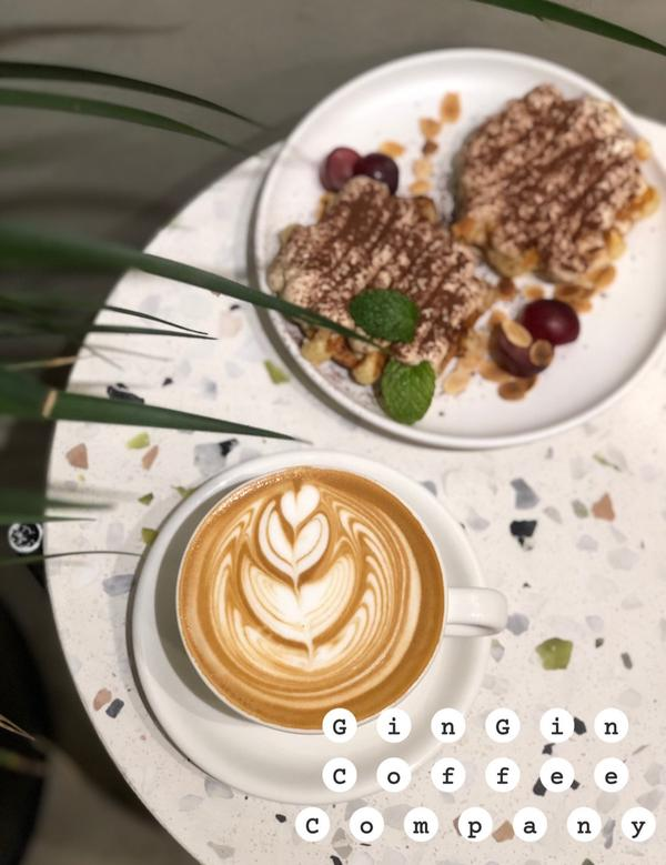 GinGin Cafe |忠孝新生捷運站|咖啡廳推薦|mishi覓食特別的是提拉米蘇鬆餅裡面有珍珠糖