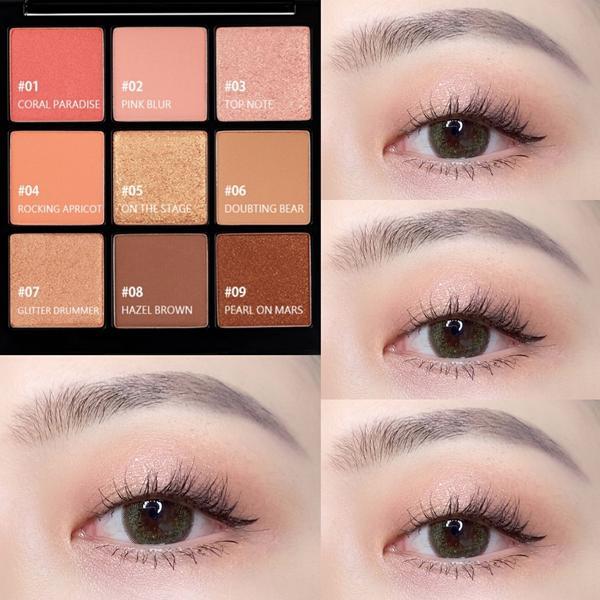 #100種單眼皮眼妝練習 - 眼影/@merzy_tw ✅ 留聲機眼影盤 - 日常妝