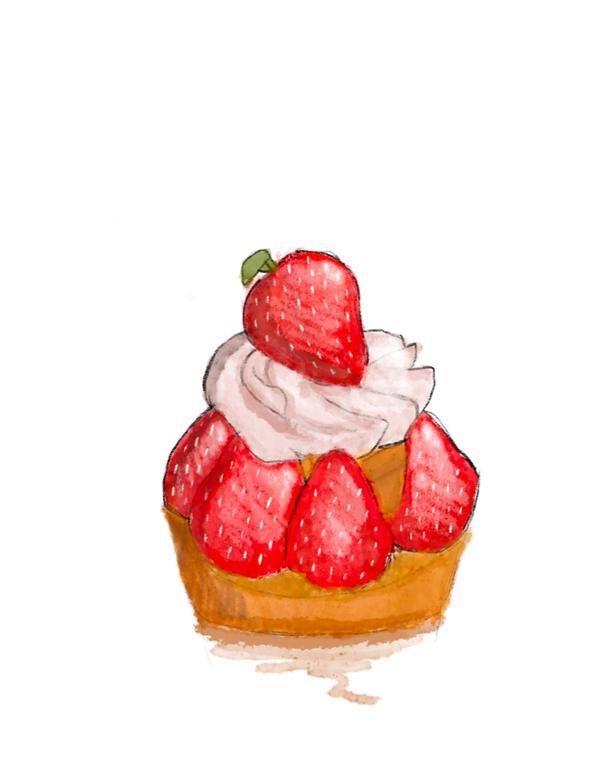 怕胖不能吃,但可以畫出來!草莓塔真的要做的好吃好難🤯 記得之前想做的時候 在塔皮的關卡就不行了😂
