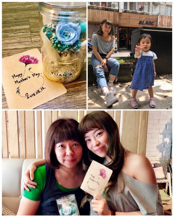 母親節👩👧 手繪卡片✍🏻永生花💐Happy Mothers Day. 乾燥花IG 💐@y