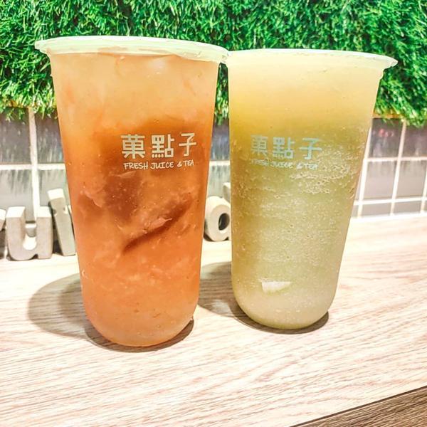 天氣熱,當然要喝飲料啦。這次分享的是位於中和環球附近的菓點子鮮茶飲,快來一杯吧~NewTaipei,