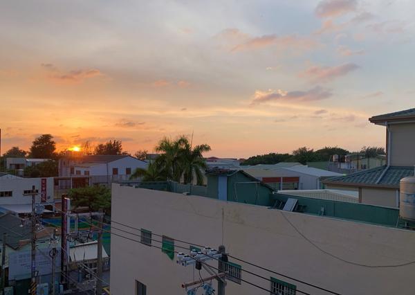 家鄉的夕陽家鄉的美 窗景拍攝
