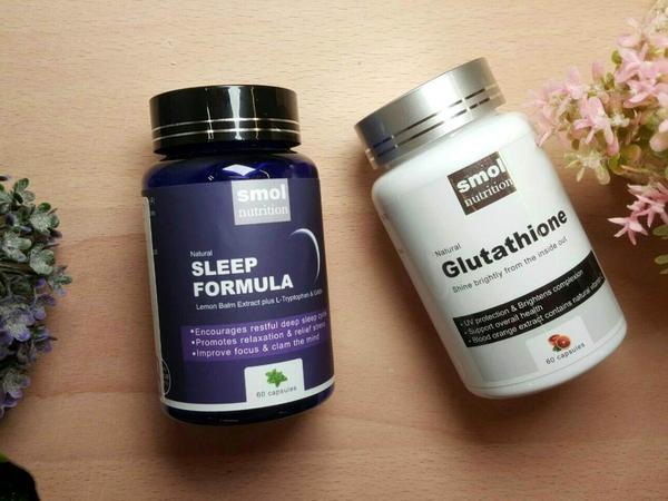 【保健產品】SMOL莫斯|澄淨亮顏複方膠囊、舒壓助眠草本複方膠囊讓你美白又舒壓好入眠#SMOL莫斯&