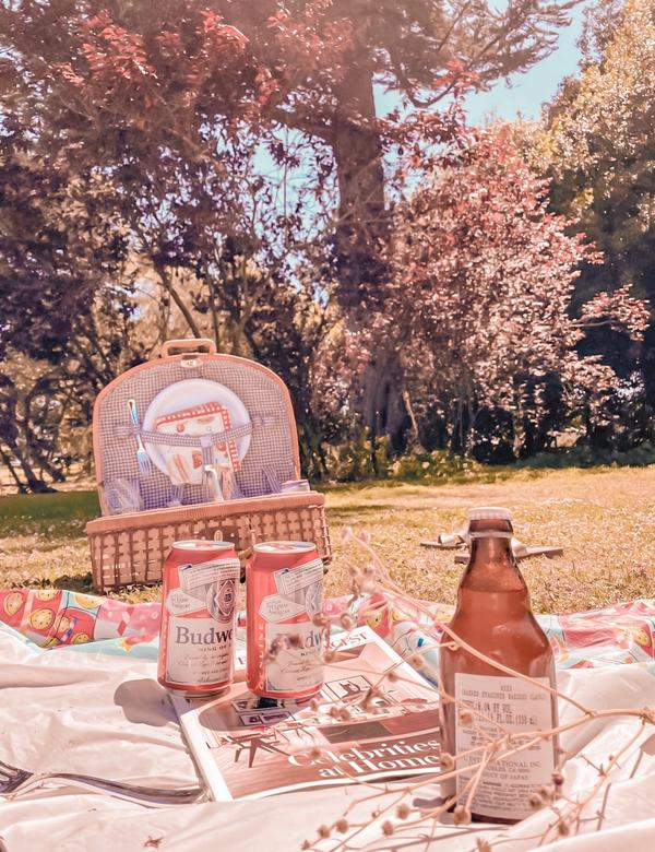 舊金山戶外野餐~ 嘿嘿!想和我們一起野餐嗎?   女生們的野餐充滿歡笑,這次野餐風格走渡假風🥰🥰