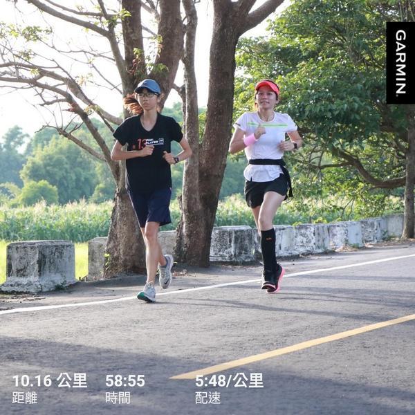 〃跑步收假〃說好休跑的卻還是忍不住… 心理想不要跑不要跑(才怪 身體還是自動著裝出發 6分速 10k