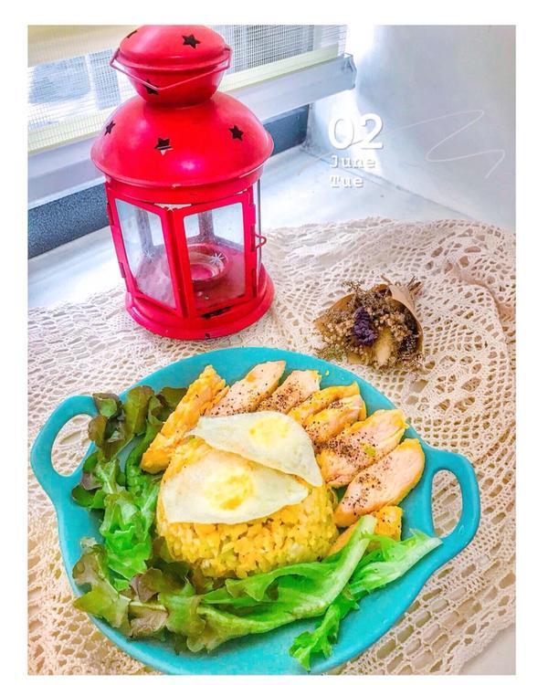 午餐吃什麼?   南瓜雞胸燉飯❤️