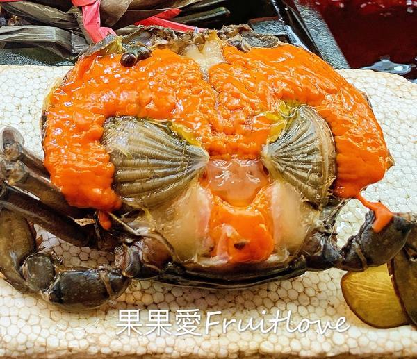 滿滿的蟹膏好誘人啊~好想吃❤️