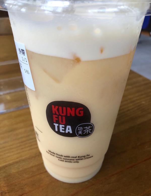"""我最推薦「功夫茶 Kung Fu Tea」的多多綠茶打敗各品牌的""""多多綠"""",唯功夫茶的多多綠最好喝了"""