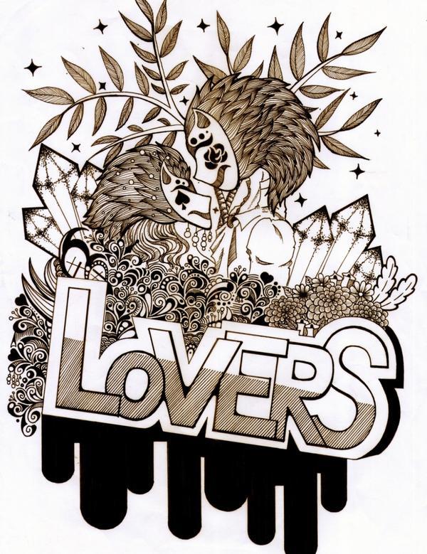"""寓""""第五章 戀人""""""""Lovers""""意旨為""""戀人""""幾釐米的距離,看不見的表情,和平的黑桃,愛情的玫瑰。"""