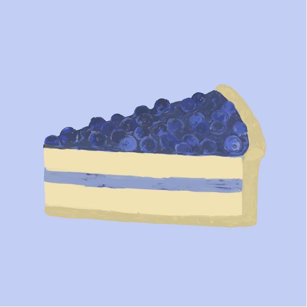 藍莓芝士蛋糕   插畫ig:kimideer