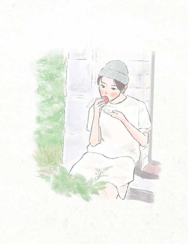 WEI FANART🌿🥰🤍🍅  #현재    #draw  #art  #illustrat