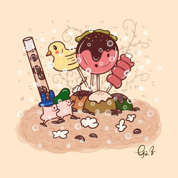 ☠︎︎𝙾𝚗𝚎 𝚙𝚒𝚎𝚌𝚎☺︎︎☺︎︎☺︎︎春水堂珍珠奶茶😳為了拯救小鴨鴨的菇菇們