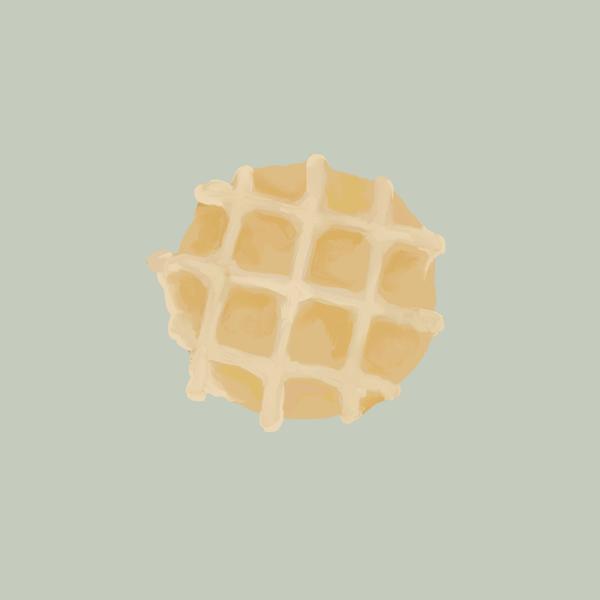 Waffle 🧇  插畫ig    :kimideer