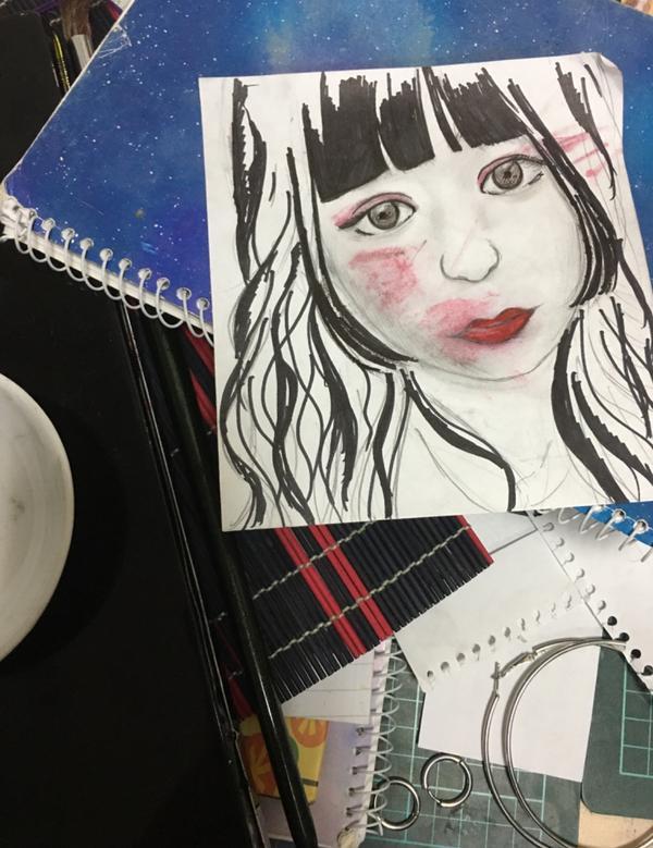失敗了(;´༎ຶД༎ຶ`)今天要交功課!於是我把一個畫的自認為很像的本本毀了(;´༎ຶД༎ຶ`)(對