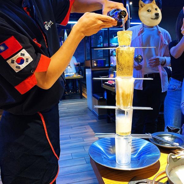 好想念韓國燒啤 #八色烤肉 #啤酒塔 #真露 #cass啤酒 #韓式冷麵 #燒酒Soju #하이트진