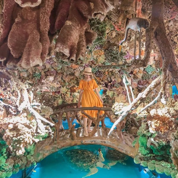 📍竹灣大義宮-🐢海龜池⛲️人稱✨海底龍宮🔥超浮誇的海底龍宮居然在廟裡🔥 澎湖「竹灣大義宮」,