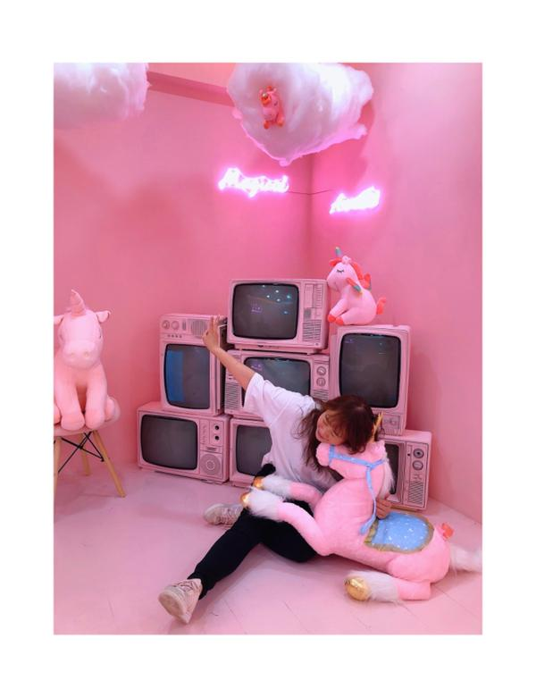 打卡|少女心噴發的粉紅獨角獸🦄️世界Uniqorn cafe|2D cafe姊妹店#粉紅系列 就是