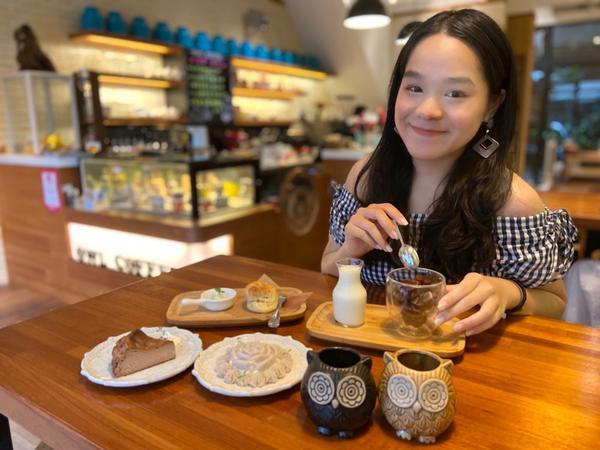 《貓頭鷹咖啡🦉》嘉義平價特色咖啡店☕️ OMG 😳 這貓頭鷹咖啡冰磚🦉也太可愛了❤️  晴天p