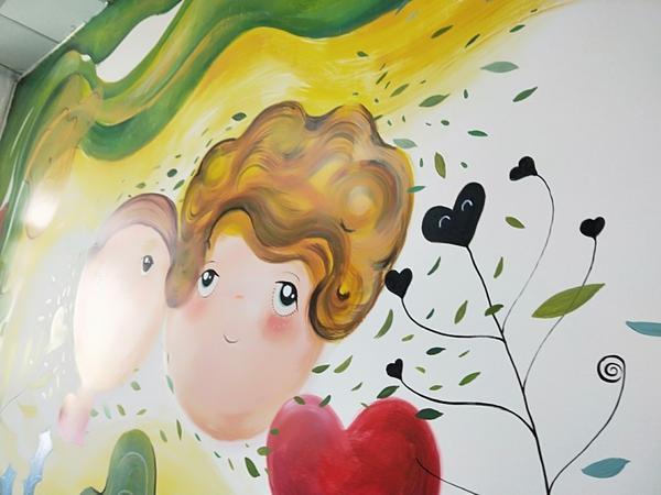 【童心花園】《社福育兒中心/小魔女的彩繪牆》縮時攝影【童心花園】《社福育兒中心/小魔女的彩繪牆》畫完