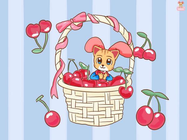 櫻桃與澤澤貓你們愛吃櫻桃嗎🍒