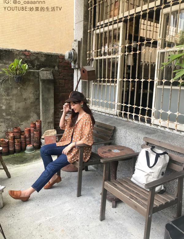【日系復古穿搭】去老屋喝下午茶!我特別喜歡老屋改建的咖啡廳,因為喜歡復古又純樸,能感覺到時光的味道。