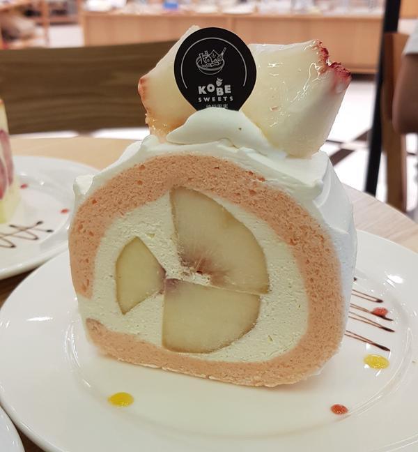 【台北 神戶果實】水蜜桃捲絕讚推薦神戶果實(KOBESweetsCAFE)「將水果對身心的好處推廣給