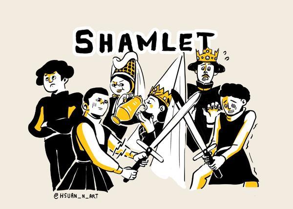 ( 𝔻𝕣𝕒𝕞𝕒|戲劇 ) 連假不知道要去哪裡嗎?來看場喜劇「莎姆雷特」—阿鏘~看我一劍戳進