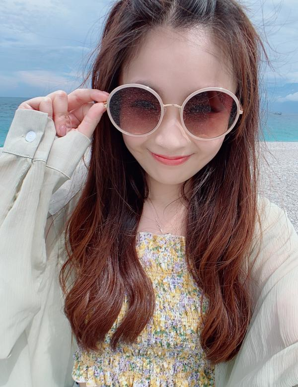 花蓮 七星潭被自己美到暈倒系列 「自己說自己開心」 第一站 #七星潭   藍藍的大海 火辣辣的太陽