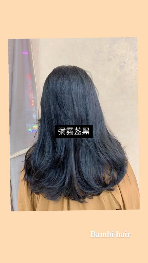 極緻彌霧藍黑色💙🤎藍灰黑🎨   ✅搭配補色洗髮精  🉑️維持更久  ⚗斑比𝐁𝐚𝐦𝐛�