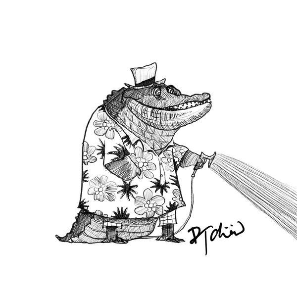 Alligator 想念容易讓人失去自己的形狀所以我總是不輕易表現我的情感因為我還想維持自己在妳心中