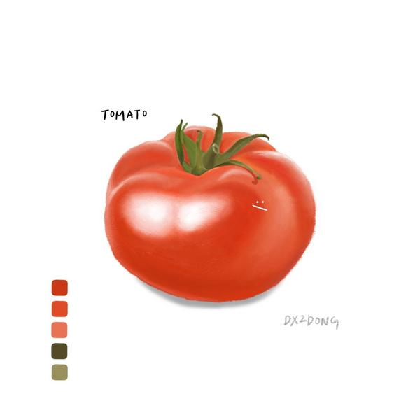 番茄🍅|【동동𓆡】畫ㄌ一顆⋯大⋯番茄⋯