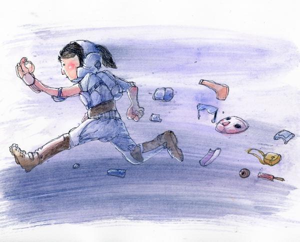 [一路]--狗竹圖文人就是這樣頭也不回的,一路跑到終點陪著你的沒有別的始終是雙腳