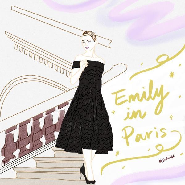我為什麼不推薦大家都在瘋的【 艾蜜莉在巴黎/Emily In Paris 】?希望可以透過我的插畫畫