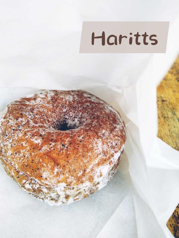 Haritts來自東京澀谷的甜甜圈,不能出國就要大吃日式點心不是很愛甜甜圈的我竟然買了它!我得承認當