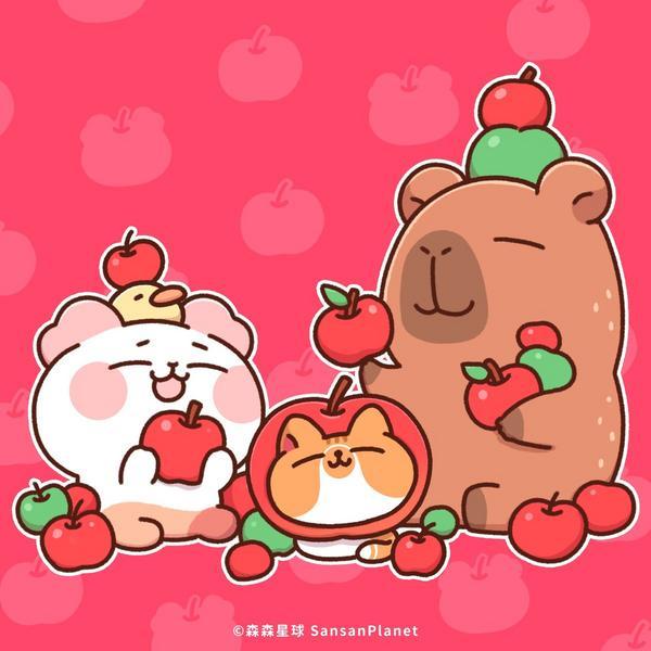 """好蘋果之日今天是日本的""""好蘋果之日""""🍎愛吃鬼森森也很喜歡蘋果😊❤️大家也一起陶醉的吃吧~"""