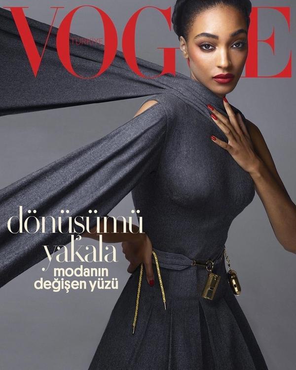 Vogue土耳其版2020年11月號封面 - Jourdan DunnVogue土耳其版2020年1