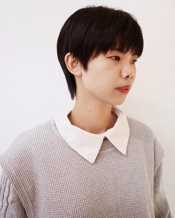 日系短髮look- #ᵛᴵᵛᴵ設計款🤞🏻 #日系 小清新帶點帥的風格😍 - 💈採預約制 ⬇️